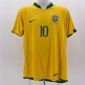 Nike Brasil Ronaldinho Football Yellow Jersey